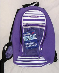 Purpel Backpack Speedo
