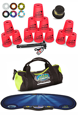 Red Speed Stacks Combo Set Gear Bag Mat Pro Timer